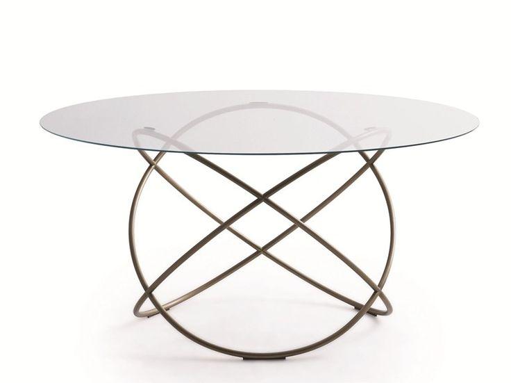 Tavolo da salotto rotondo in cristallo SFERA | Tavolo - MOLTENI & C.