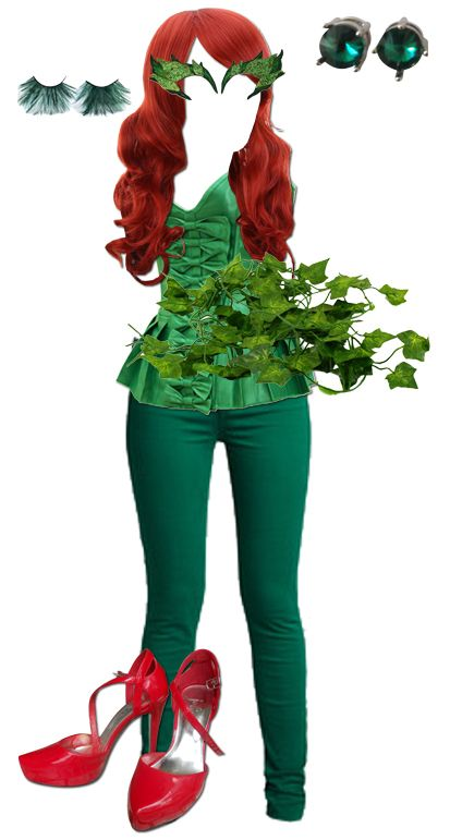 Poison Ivy Costume with grren trousers for those who dont wear/like skirts
