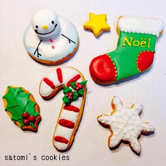 クリスマスアイシングクッキー第三弾 (๑´ㅂ`๑)❤︎  Bちゃんの雪だるまクッキーに一目惚れ❤️ さっそく作ってみたよ✨  Bちゃん、食べともお願いします (*'∀'人) - 108件のもぐもぐ - クリスマスアイシングクッキー by さとみ
