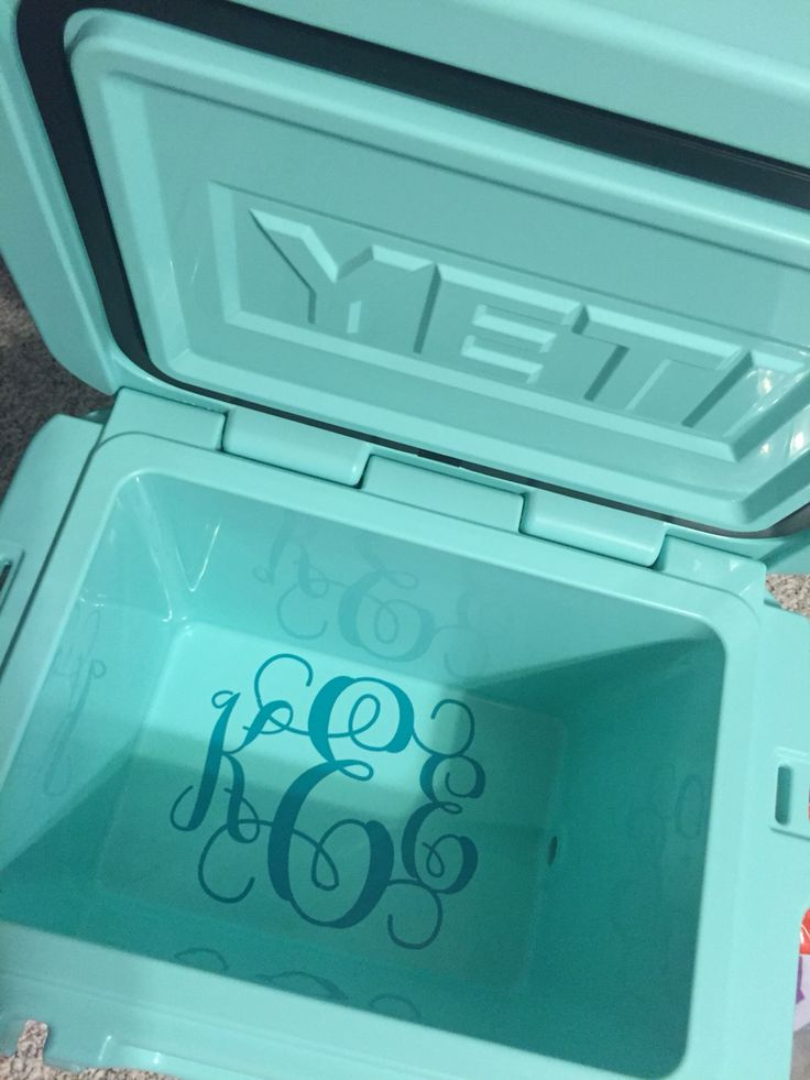 Yeti monogram inside cooler
