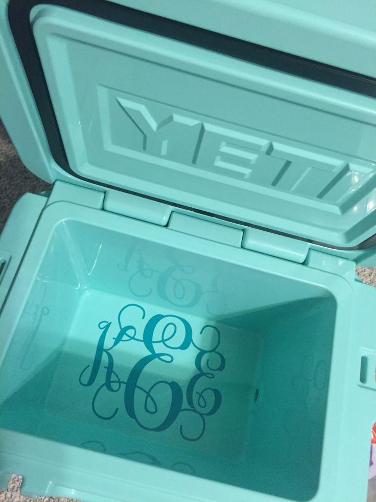 Yeti monogram inside cooler