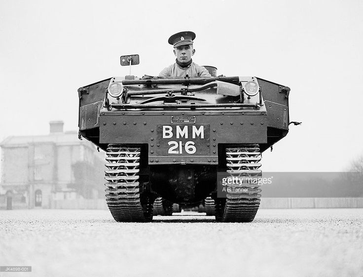 A Garden-Lloyd utility tractor used by the 4th Queen's Own Hussars, based at Aldershot. The machines are replacing the Regiment's horses and are mainly used to carry ammunition. 1937