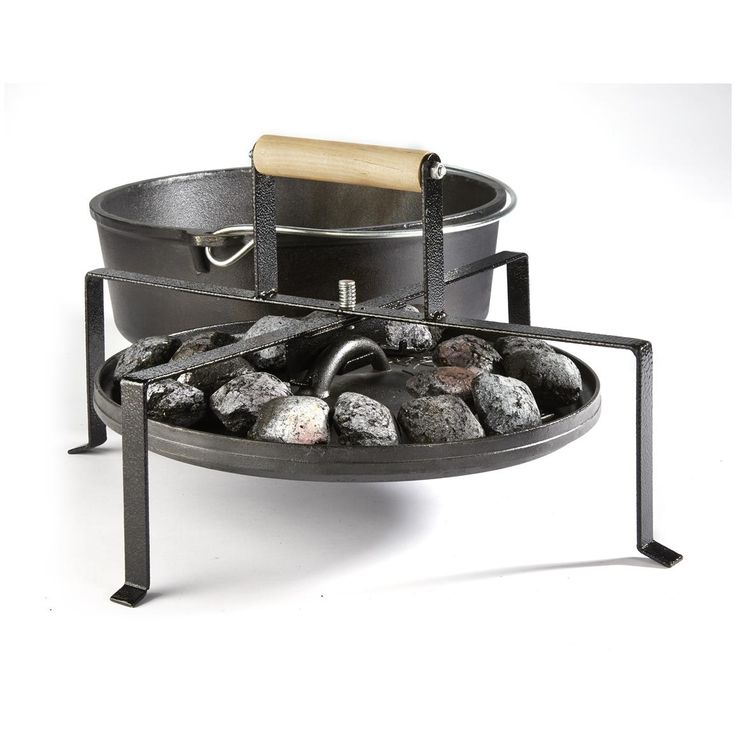 Camp Chef Dutch Oven Lid Lifter, & lid stand.
