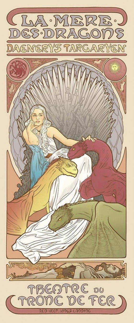 #Game Of Thrones Art Nouveau poster