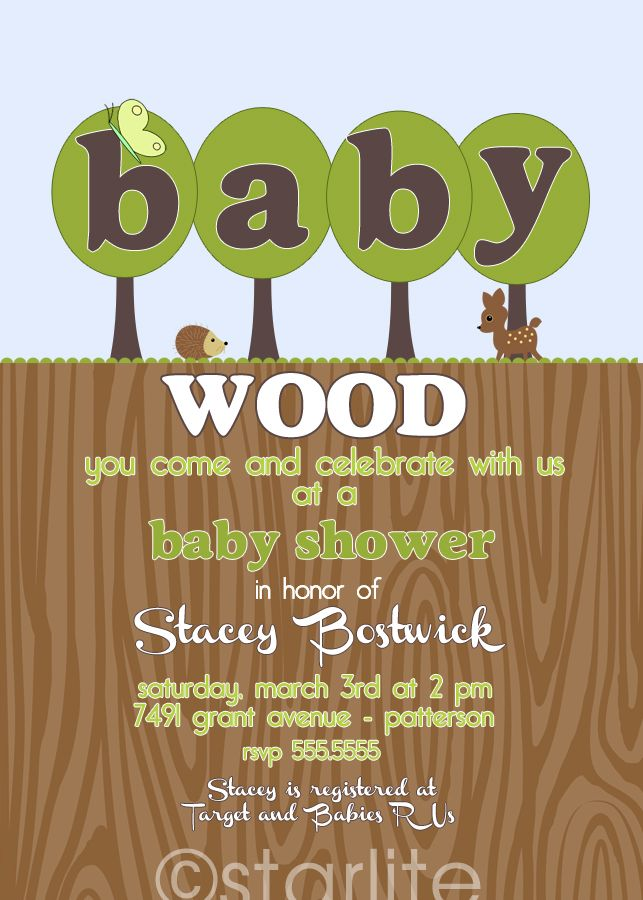 free printable camo baby shower invitations templates%0A baby shower invitation  Woodland Wood Forest Green Brown  Wood You  baby  shower boy or baby shower girl  Printable DIY  Wood Crafting