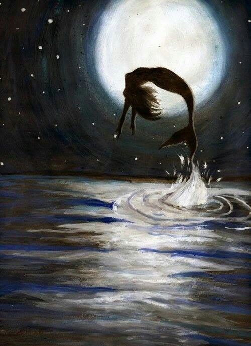 Stunning piece of artwork, I love the way she's jumping out of the waves. More