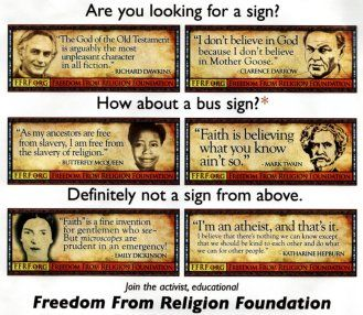 Freedom From Religion Foundation Signage