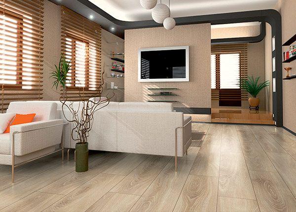 Godfrey Hirst Floors Laminate Belle  - Distressed Oak Natural