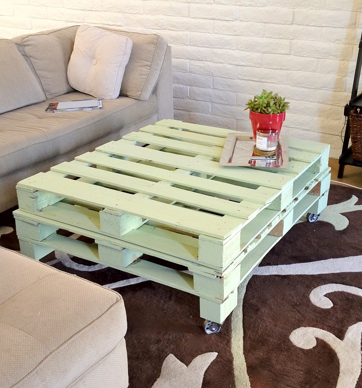 Diy coffee table i will make work save these when we get for Painted pallet coffee table