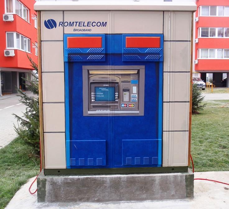 ATM whit  money