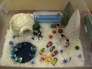 Winter Wonderland sensory box