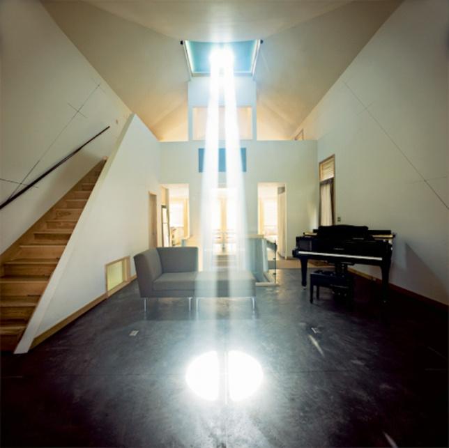 Burke House Living Room Skylight Doubles As A Sun Dial