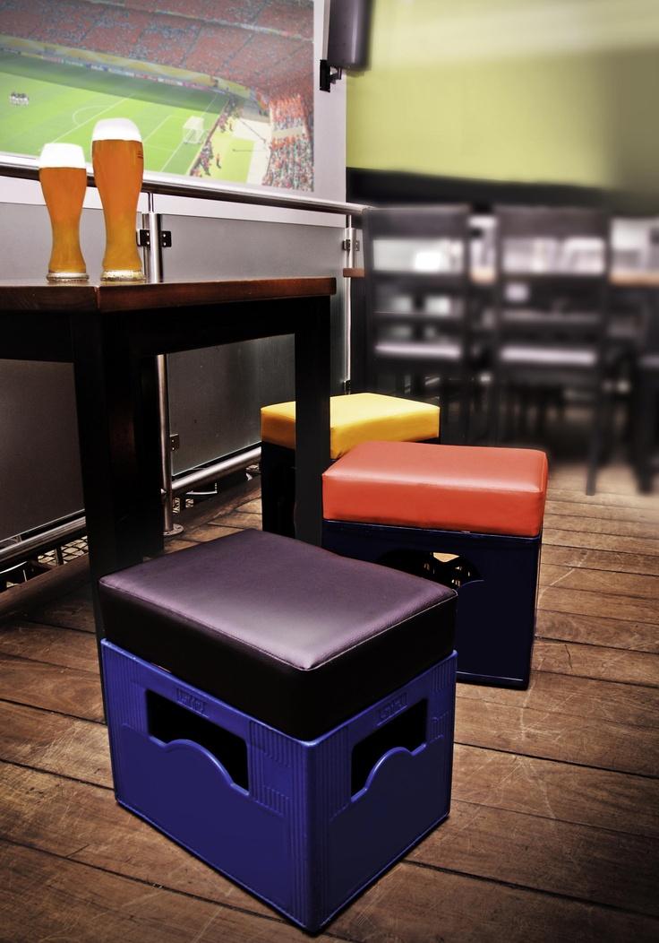 Beersits - Bierkastensitzauflagen, das perfekte Geschenk für Freunde! Ideal am Lagerfeuer und überall da, wo man Bierkästen und nur wenige Sitzplätze hat!