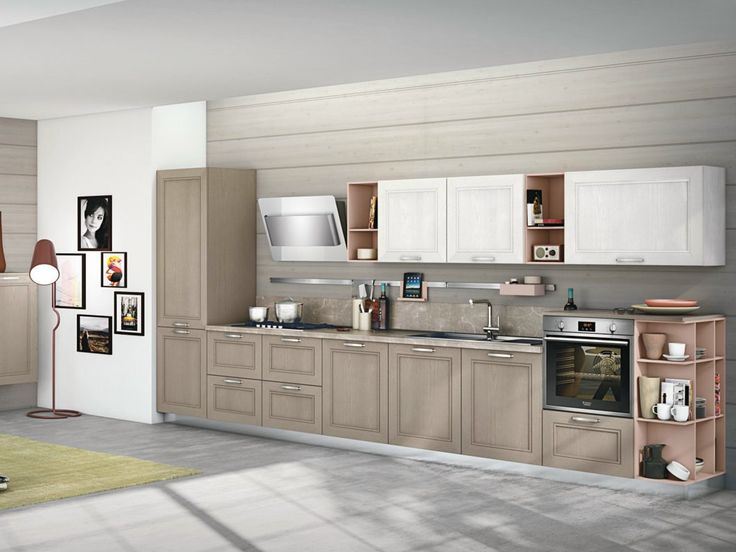 Linear ash fitted kitchen TAIMI by CREO Kitchens by Lube
