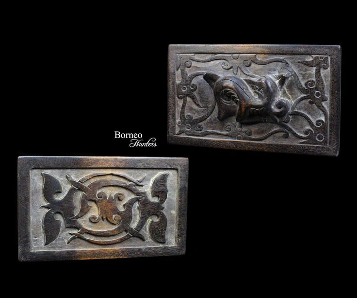 """Borneo Tattoo Template 8.25"""" Dayak Iban Tattoo Ink Stamp Block 'Surong Gelang' Traditional Tribal Primitive Status&Beauty Symbol (1 PIECE) by BorneoHunters on Etsy"""