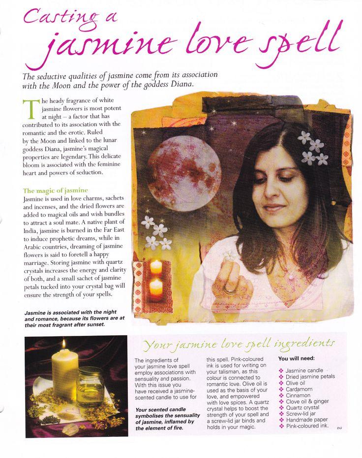 Casting a Jasmine love spell