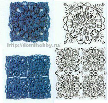 Motivos crochet cuadrados: Crochet Granny, Crochet Cuadrado, Squares Charts, Crochet Squares, Crochet Afghans Blocks, Granny Squares, Beautiful Squares, Crochet Shows, Crochet Charts