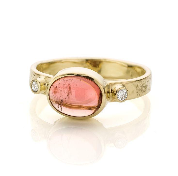 Roze toermalijn & diamanten