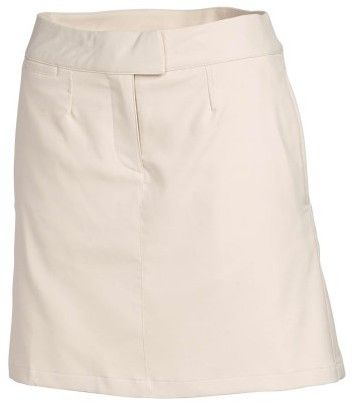 Puma Women's Solid Tech Golf Skirt Oatmeal 14