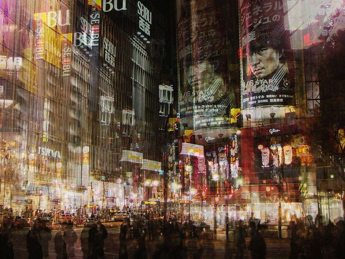Stephanie Jung's multiple exposure photographs superbly convey the heady, intense, manic feeling of experiencing a busy city where the senses are on consta