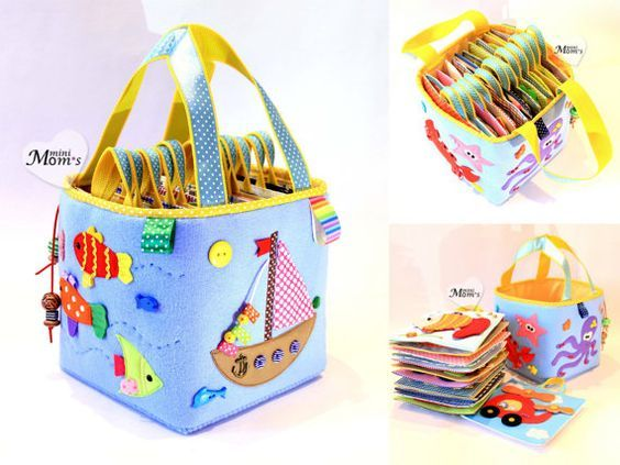A big developing toy set of tablets /Quiet Book Busy by MiniMoms