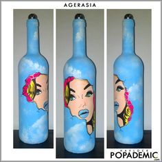 POPADEMIC is POP ART Bottled, a series of original paintings on glass wine, champagne and other spirits bottles conceived and hand painted by Joey & Rhonda Havlock... ... POPADEMIC.com ...#popademic #popart #inspiration #happy #pop #wine #wip #smile #havlock #bottles #painting #surrealism #art #champagne #relax #motivation #recovery #lifeisgood #popsurrealism #epidemic #addiction #cool #dope #celebration #crazy #winelover #recycle #artoftheday #follow #exposeyourselfoften