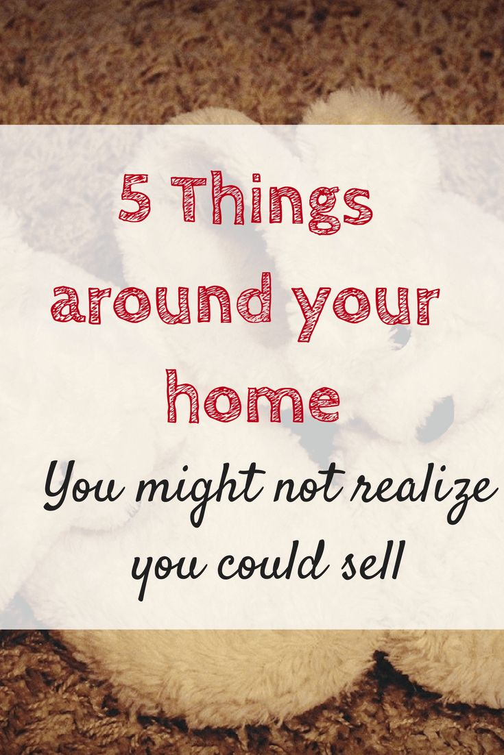 Making a bit of extra cash is always handy. Here are a few items from around the house you might not realize you could be selling.