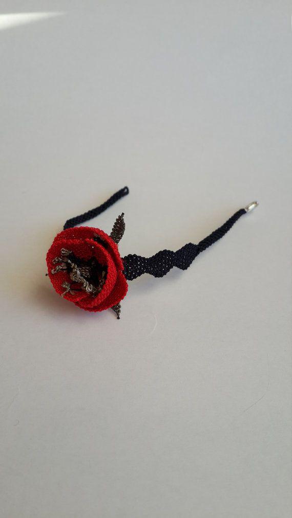 crochet tulip wristband, turkish oya wristband, handmade wristband, jewelry handmade,bohemian jewelry,bridesmaid gift,gift for her,OOAK
