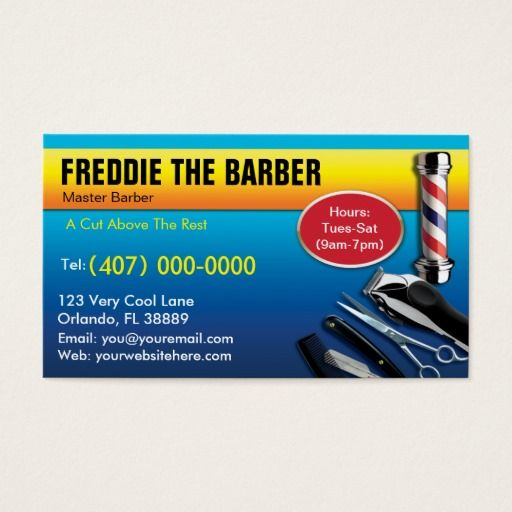 216 best barber business cards images on pinterest barber business barber business card barbershop pole clippers colourmoves Gallery