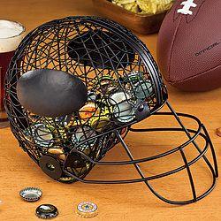 Football Helmet Beer Cap Caddy for future basement bar