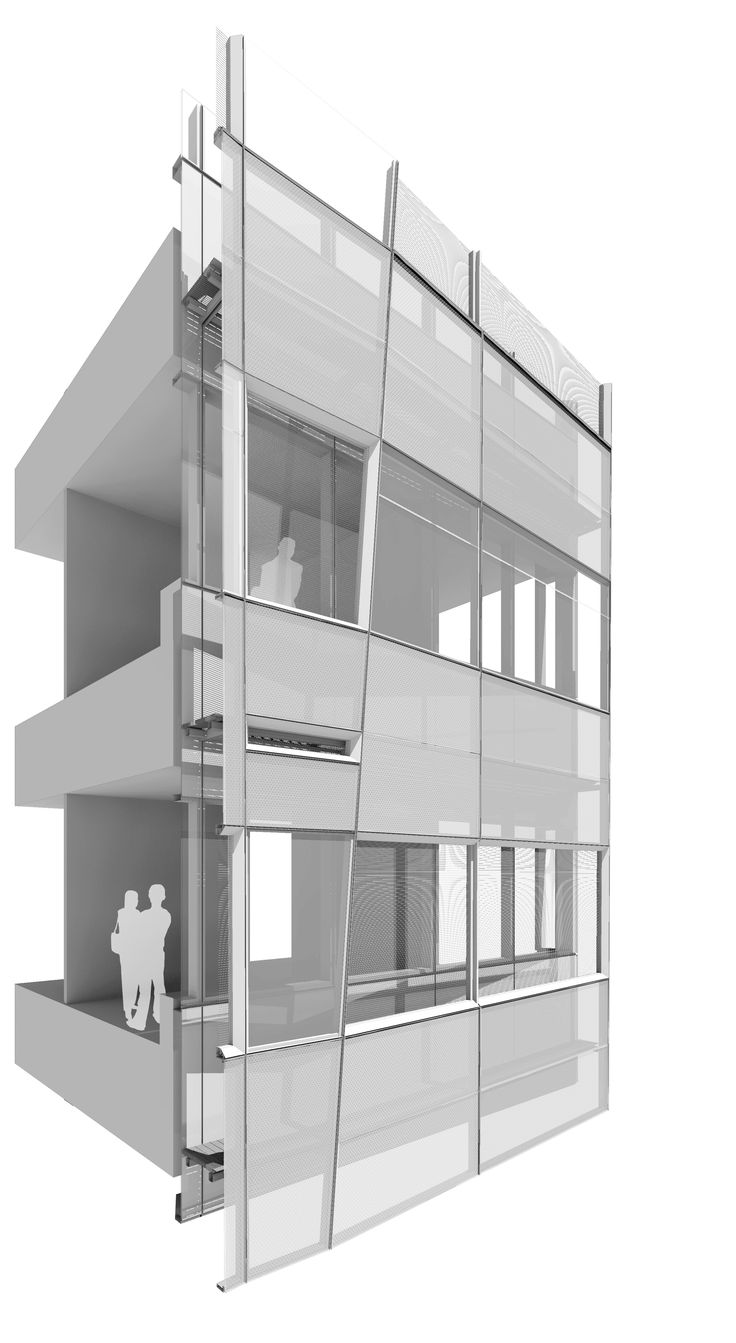 how to make a facade drawing look 3d