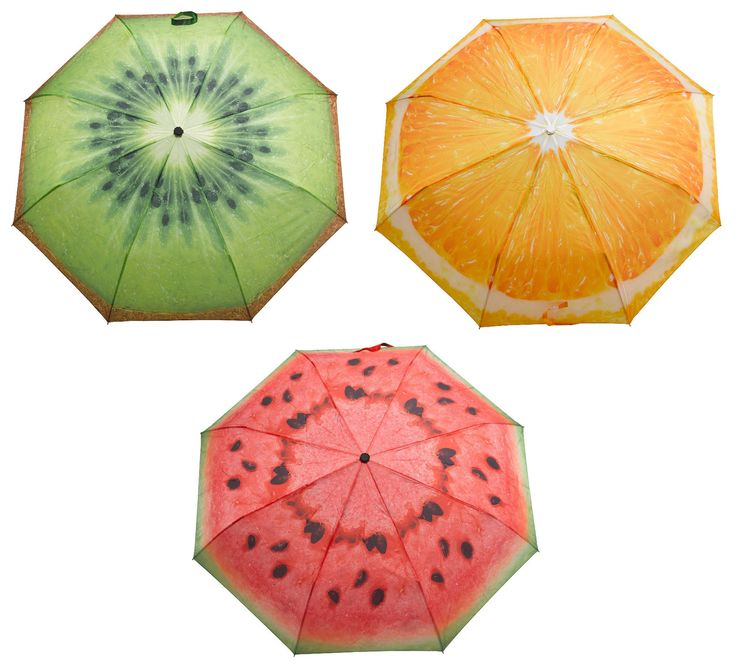 Brighten up her rainy days with these brightly coloured umbrellas from Fallen Fruits. Available in kiwi, watermelon, and orange styles.    #mothersdaygift #mothersdayidea #gifts #gift #rainydays #umbrella #brolly #fruit