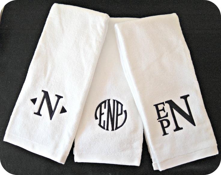Golf Or Tennis Towels Monogramming Monogram Towels