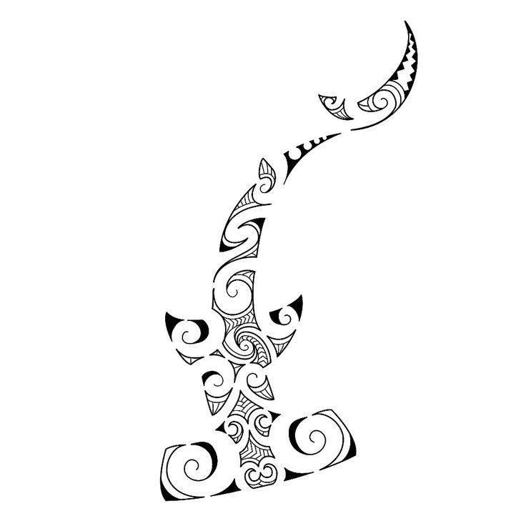 polynesian shark Tattoo Designs | Maori Shark Tattoo Designs Pattern 2 Tattoology Serbagunamarinecom