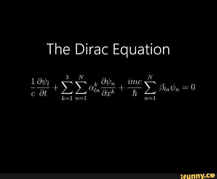 #quantumphysics, #physics, #dirac, #equation