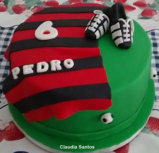 Claudia Bolo Decorado: Bolo Flamengo