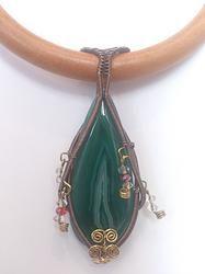 Natural Agate Swarovski Crystal Choker - 'Aurora'  @ www.solace-designs.com