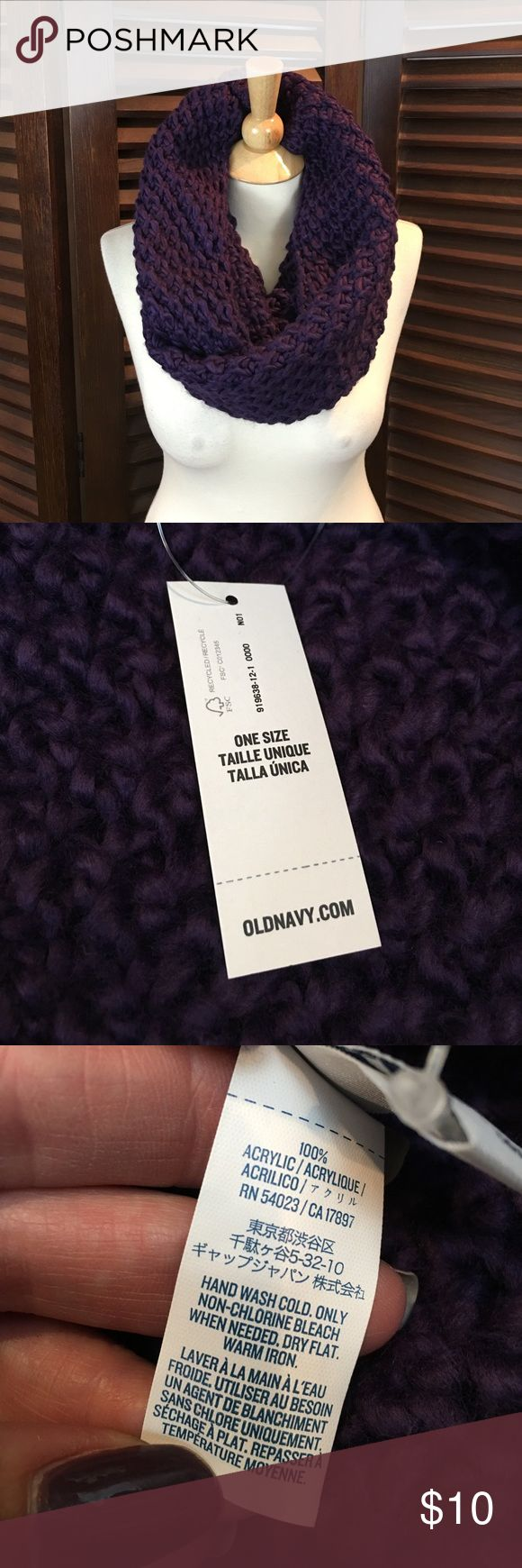 Gorgeous purple knit chunky infinity scarf Super warm and cozy purple knit infinity scarf from Old Navy.  Brand new with tags! Old Navy Accessories Scarves & Wraps
