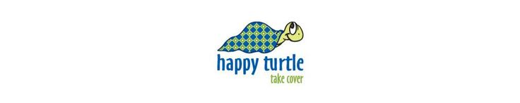 "Happy Turtle Eastern Sunrise Colorful 7.5"" block"