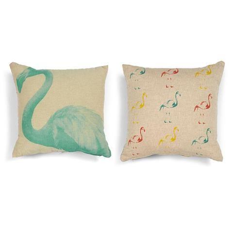 Flamingo Print Cushion | Kmart