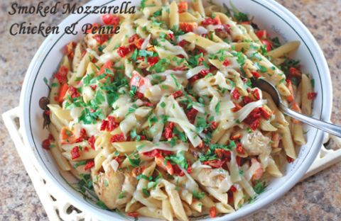 Olive Garden Smoked Mozzarella Chicken and Penne Pasta Copycat Recipe