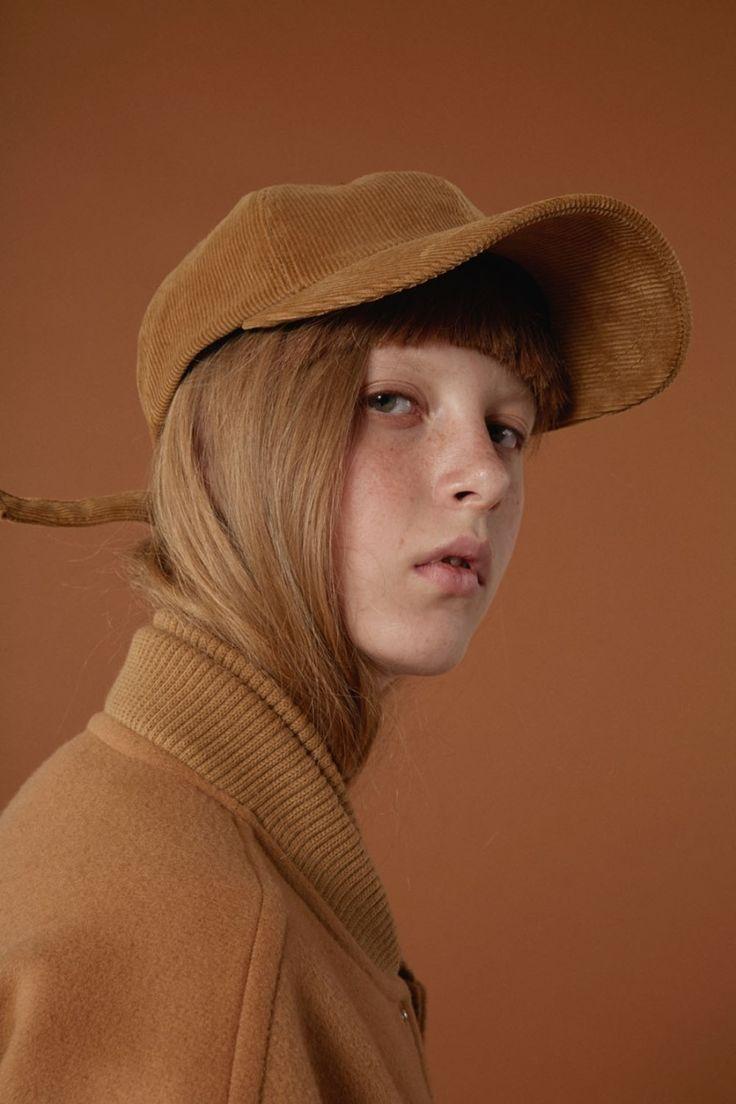 Camel 'A' applique cap www.adererror.com