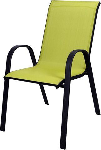 Stol, Elin texteline/stål med armstöd, grön, 3002263