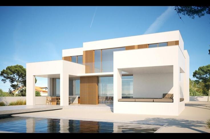 Tres casas en la playa
