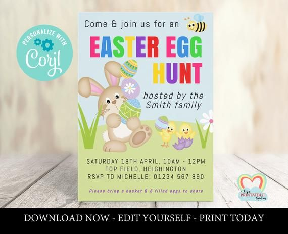Easter Egg Hunt Invitation Easter Hunt Invitation Easter Etsy Easter Egg Hunt Invitation Easter Invitations Easter Egg Hunt