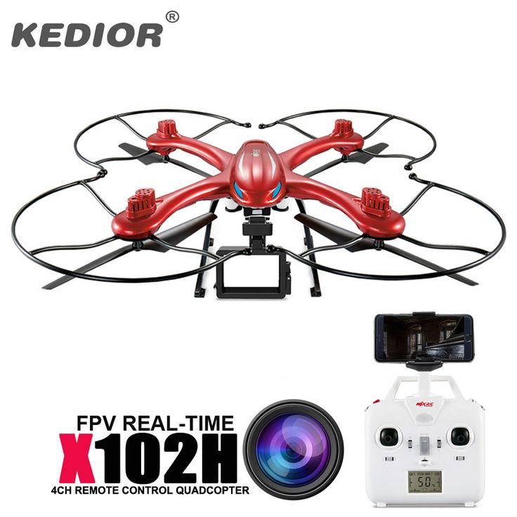 Original MJX X102H Big Quadcopter RTF RC Helicopter 2.4G 4CH 6-Axis Drone Gopro Can Add FPV Wifi Camera HD VS MJX X101 Rc Dron //Price: $119.99      #sale
