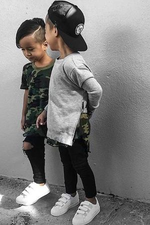 Moda infantil em tons militares!