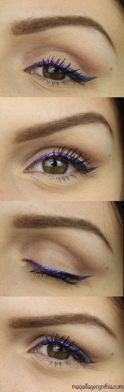 Maquillage waterproof ce samedi sur ma chaîne youtube Cynthia Dulude ! ;) #eyeliner #metalic #violet #waterproof #makeup #tutorial