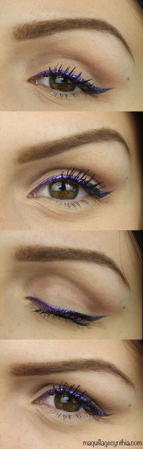 Maquillage waterproof ce samedi sur ma chaîne youtube Cynthia Dulude ! ;) #eyeliner #metalic #violet #waterproof #makeup #tutorial