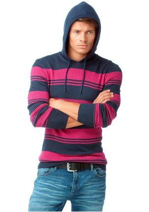 Пуловер - http://www.quelle.ru/New_arrivals/Men_fashion/Men_pullovers/Men_sweaters/Pulover__r1269110_m294334.html?anid=pinterest&utm_source=pinterest_board&utm_medium=smm_jami&utm_campaign=board3&utm_term=pin10_28032014 Сверхактуально! Пуловер с капюшоном, расцветка - в крупную полоску. На рукавах и талии - эластичная резинка. Модная нашивка. #quelle #man #fashion #pulover #striped #style